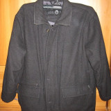 Geaca / haina barbati tip palton / jacheta, marime 44 - Geaca barbati, Culoare: Negru