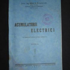 MIHAIL N. BOSOANCA - ACUMULATORII ELECTRICI {1931, prima editie}