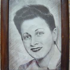 Portret de femeie (Vintage) -  nesemnat