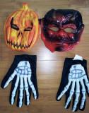 Cumpara ieftin 2 masti copii Halloween si manusi de schelete