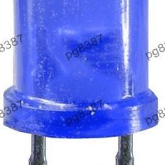 LED 12 mm, rotund, mat, albastru, 25 mA-143024