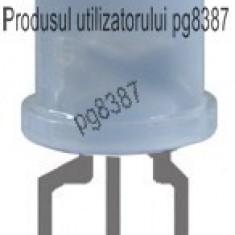 LED 10 mm, rotund, alb/mat, bicolor, rosu/verde, 20 mA, 3 terminale-145800