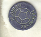 Bnk md jeton medalie Consf Judeteana Arbitrii Fotbal - Ploiesti 1984