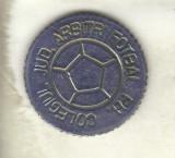 Bnk md jeton medalie Colegiul Jud Arbitrii Fotbal PH - Ploiesti 1986