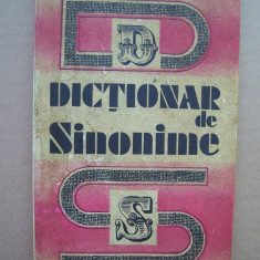DICTIONAR DE SINONIME, GH.BULGAR . - Dictionar sinonime