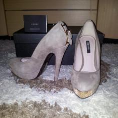 Pantofi Denis - Pantof dama, Culoare: Bej, Marime: 37, Bej