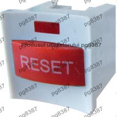 Buton reset, cu led, cu retinere, 15x15x16mm - 124616