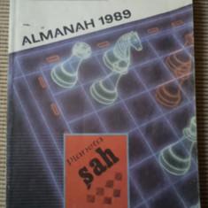PLANETA SAH LITERATURA SI JOCURILE MINTII ALMANAH 1989 carte fan sport hobby - Carte sport