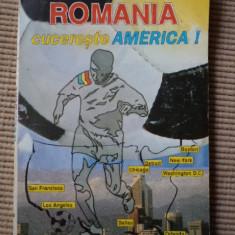ROMANIA CUCERESTE AMERICA GEORGE TITUS ALBULESCU 1994 carte sport fotbal hobby