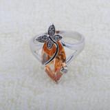 Vand inel argint 925 cu citrine