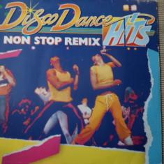 Disco dance hits non stop remix disc vinyl muzica pop italo disco hituri lp 1986, VINIL
