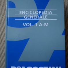 ENCICLOPEDIA GENERALE vol 1 A - M DE AGOSTINI dictionar enciclopedie l italiana