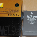 Acumulator NIKON EN-EL9A - Baterie Aparat foto Nikon, Dedicat