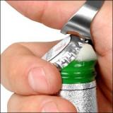 Inel deschizator de capace de bere racoritoare din otel inoxidabil diametru 22mm - Inel inox
