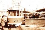 Carte postala ilustrata Depoul Panduri,Bucuresti, iesirea tramvaielor