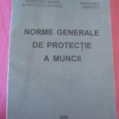 NORME GENERALE DE PROTECTIA  MUNCII - ANUL 2000 .