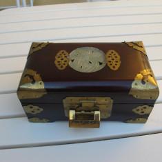 Cutie antichizata bijuterii fildes alama bronz - Cutie Bijuterii
