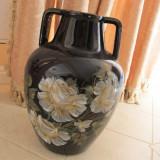 Vaza ceramica decorata manual