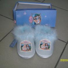 PAPUCI DE CASA PRINCCESE PAUPER - Papuci copii, Marime: 25, 26, 27, 28, 29, Culoare: Albastru, Fete