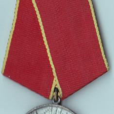Decoratie comunista R.S.R Pentru Merite Deosebite in Munca + bareta