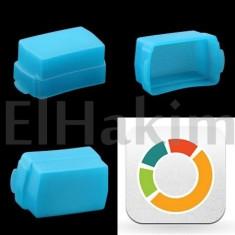 Flash Diffuser BLUE - Nikon SB-800 / Nikon SB-600 - Bounce Diffuser Blitz