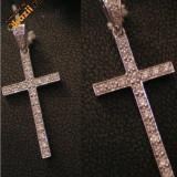 Cruciulita din aur alb 18k si diamante! - Pandantiv aur