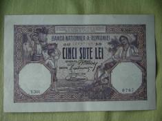 Bancnota 500 lei 1920 aUNC foto