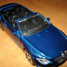 Macheta auto BMW 645 Ci, Burago, scara 1/43 bleumarin