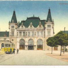 *carte postala(ilustrata)-TIMISOARA-gara - Carte Postala Banat dupa 1918, Necirculata