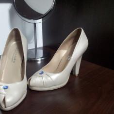 Pantofi piele Kaloni - Pantof dama, Culoare: Nude, Marime: 35, Nude