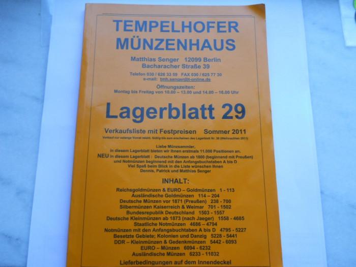 Germania-Catalog numismatic de vanzari  Legerblatt 29 (11032 monede din toata lumea)-180 pagini foto mare