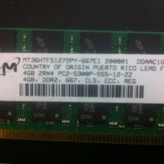 DDR 2 REG ECC CL5 KIT 16G ( 4 x 4G ) PC2-5300P Dual Rank - Memorie server Alta