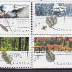 Frunze şi Fructe-Canada serie stampilată