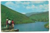 Carte postala(ilustrata)-HIDROCENTRALA  SADU-Lacul de acumulare