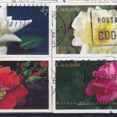 Trandafiri-Canada serie stampilată