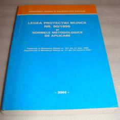 LEGEA PROTECTIEI MUNCII NR. 90/1996 si normele metodologice de aplicare - Carte Dreptul muncii