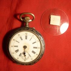 Ceas de Buzunar marca Remontoir, carcasa argint marcata - Ceas de buzunar vechi