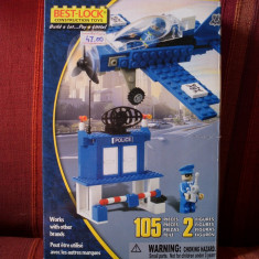 LEGO Best Lock original cu avion, cladire si figurine - idee cadou - LEGO Classic Altele