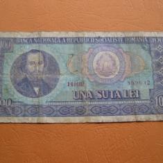 100 lei 1966 H - Bancnota romaneasca