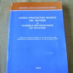 LEGEA PROTECTIEI MUNCII NR 90/1996, SI NORMELE METODOLOGICE DE APLICARE, - Carte Dreptul muncii