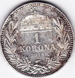 3) Ungaria Austria1 KORONA/KRONE/COROANA argint 1914 a.UNC/UNC,patina frumoasa
