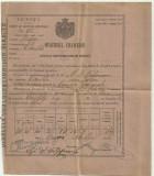 Ministerul Finantelor - LICENTA PENTRU BAUTURI SPIRTOASE 1886