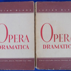 LUCIAN BLAGA-OPERA DRAMATICA/ 2 VOLUME / EDITIA I-A / SIBIU /1942