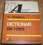 Mihai Eminescu - Dictionar de rime