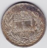 6) Ungaria Austria1 KORONA/KRONE/COROANA argint 1915 UNC,patina frumoasa