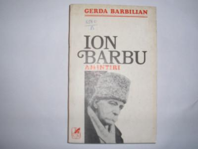 GERDA BARBILIAN - ION BARBU AMINTIRI RF12/3 foto