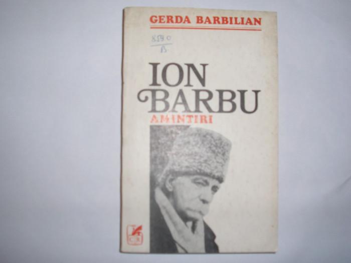 GERDA BARBILIAN - ION BARBU AMINTIRI RF12/3