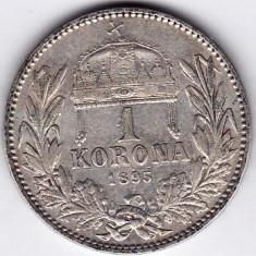 5) Ungaria Austria 1 KORONA/KRONE/COROANA argint 1895