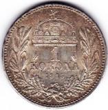 9) Ungaria Austria1 KORONA/KRONE/COROANA argint 1915 UNC,patina frumoasa
