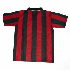 Echipamente / compleuri de fotbal rosu-negru (model AC Milan). Tricou+ sort + jambiere seniori si copii - Echipament fotbal, Set echipament fotbal